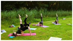 yoga in the park pose