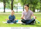 little-boy-his-father-practicing-260nw-1141781672